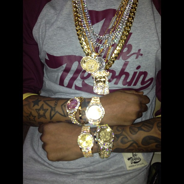 Future Shows Off His Jewelry Collection