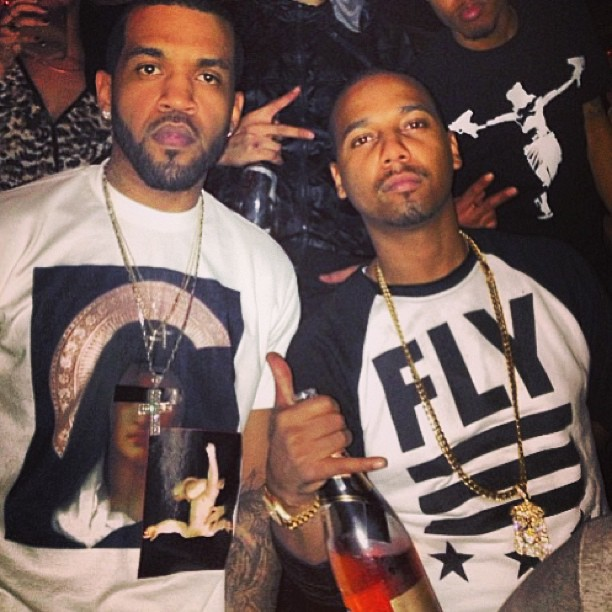 Lloyd Banks Wearing Givenchy Madonna Print T Shirt