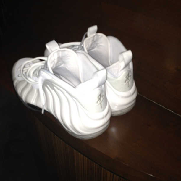 DJ Envy Gets His Nike Air Foamposite One White Out  f9aba29aa