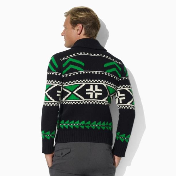 polo-ralph-lauren-black-green-wool-shawl-pullover-sweater-2