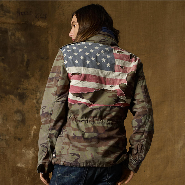 Denim and supply flag jacket