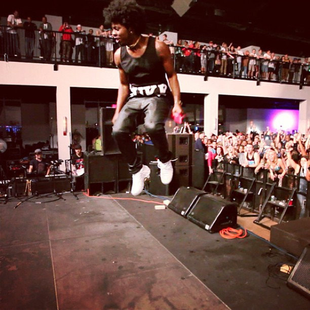 trinidad-james-wearing-nike-foamposite-white-out-on-feet