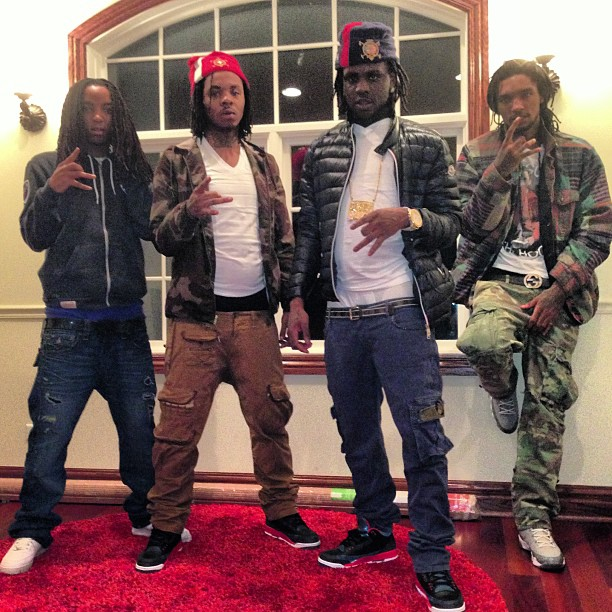 chief-keef-polo-hat-moncler-jacket-jordan-3-crimson-on-feet-gbe-300