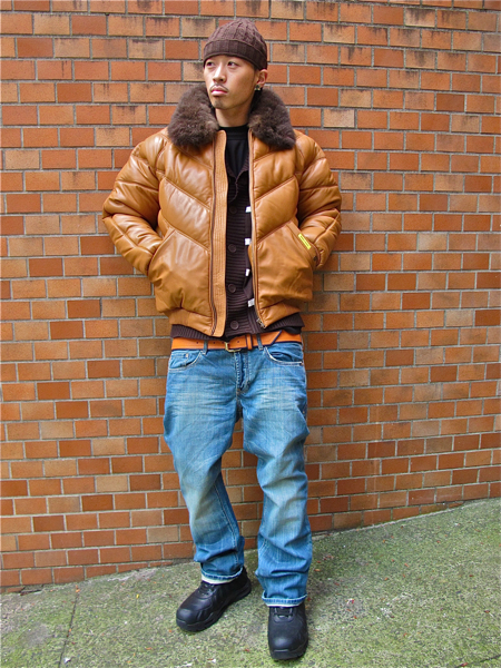 Double Goose V Bomber Jacket Tan Wheat Brown Leather