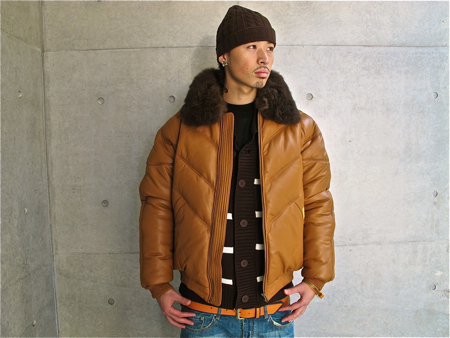 Double Goose V Bomber Jacket Tan/Wheat/Brown Leather Splash ...