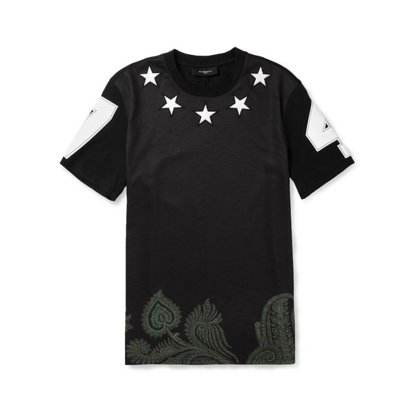 givenchy-STAR-EMBELLISHED-PRINTED-COTTON-T-SHIRT