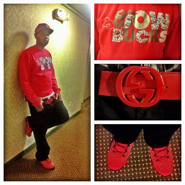Philthy Rich Slowbucks Sweatshirt Red Gucci Belt Jordan