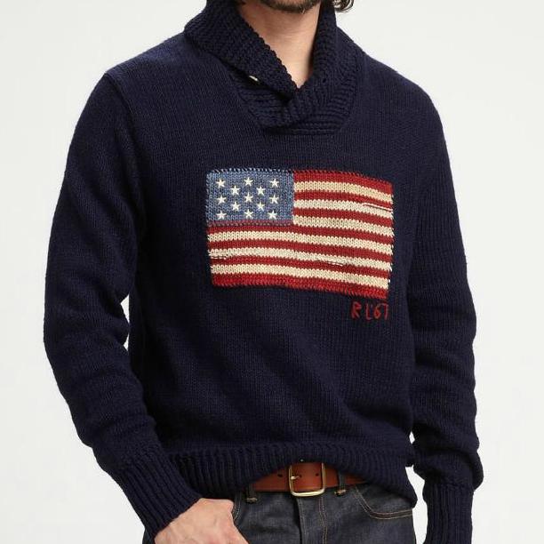 Lauren Get American Sweater Polo Ralph Yellow B2b86 Flag 446c1 rBdCoWxe