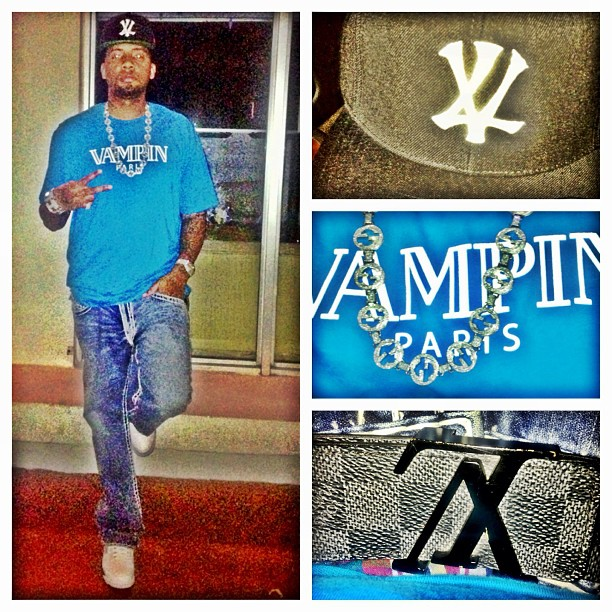 philthy-rich-vampire-life-vampin-paris-balmain-shirt-louis-vuitton-damier-belt-vl-yankees-snapback