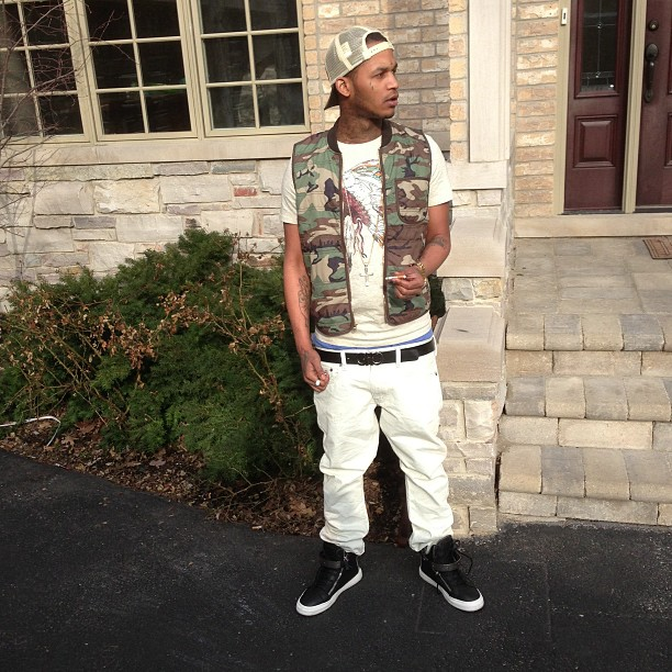 fredo-santana-denim-and-supply-camo-hunting-flag-vest-ferragamo-belt
