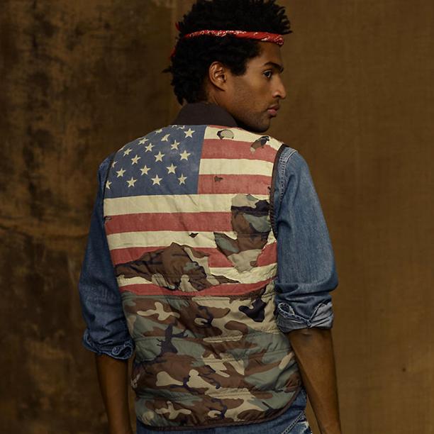 f5db2c443b3ea Fredo Santana Wearing Denim & Supply Camo Hunting Flag Vest ...