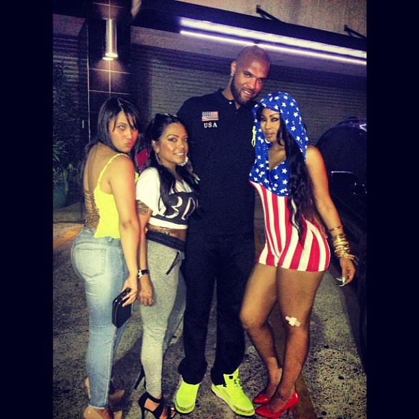 Slim Thug Wearing Polo Ralph Lauren USA Flag Neon Green Big.