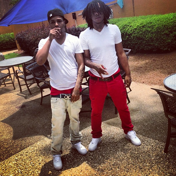 Chief Keef Wearing Red Salvatore Ferragamo Gancio Belt