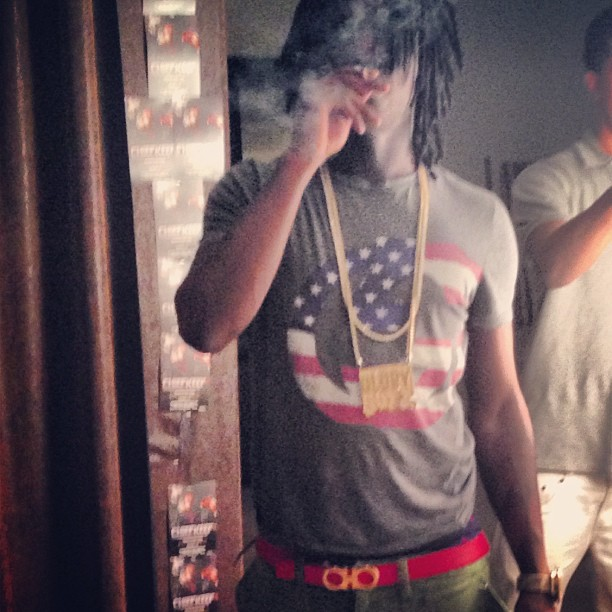chief-keef-ferragamo-ganico-belt-gucci-usa-flag-shirt