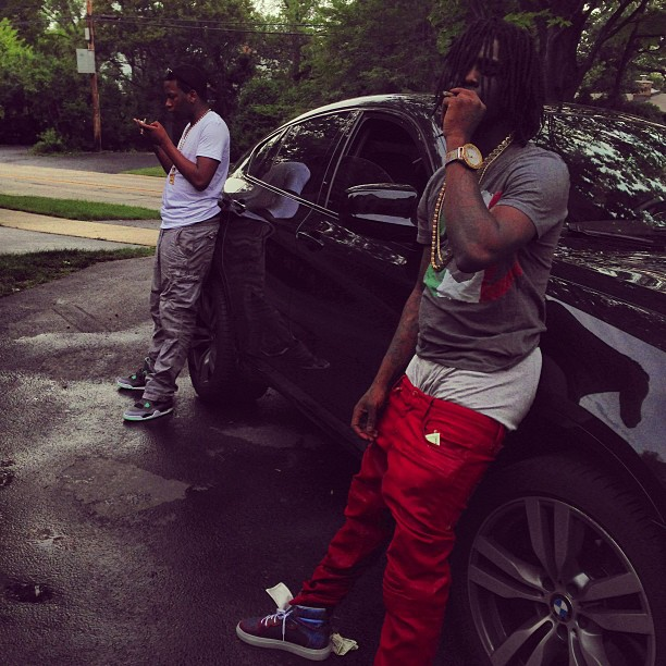 chief-keef-gucci-italy-gg-flag-shirt-Balenciaga-Perforated-Multimatieres-high-top