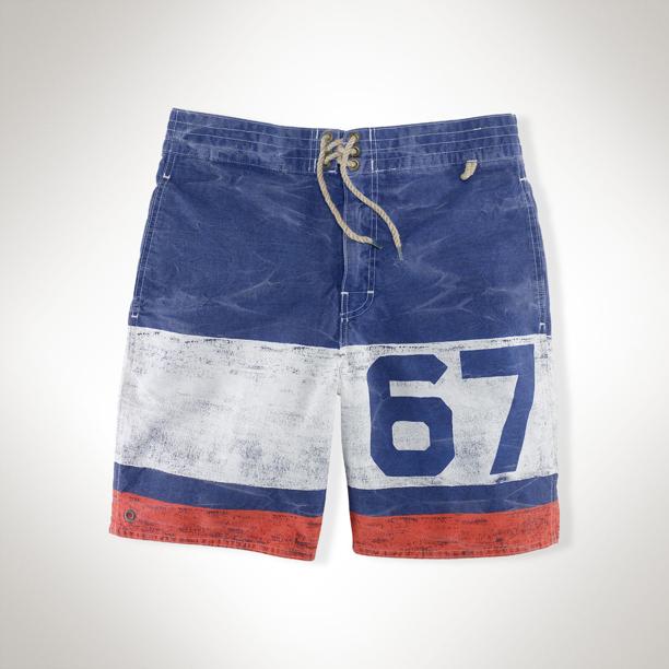 "4b4c066a6 Roc Marciano Wearing Polo Ralph Lauren Sanibel ""67"" Swim Trunk Shorts"