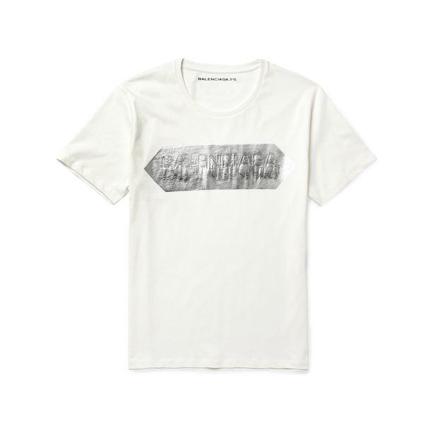 Balenciaga-Metallic-Print-Cotton-Jersey-T-Shirt
