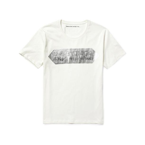 Balenciaga-Metallic-Print-Cotton-Jersey-T-Shirt