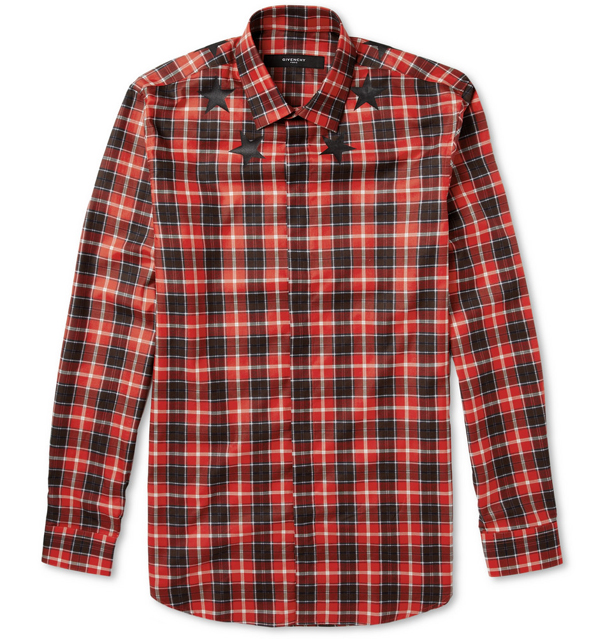 givenchy-star-and-plaid-print-cotton-shirt