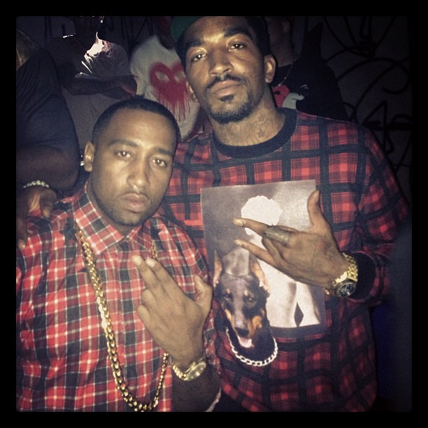 jr-smith-givenchy-dog-print-cuban-fit-plaid-sweatshirt-slowbucks-givenchy-star-and-plaid-shirt