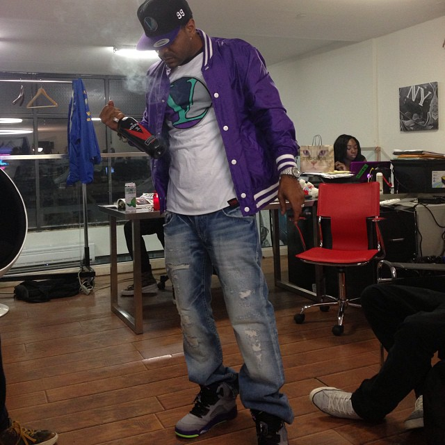 jim-jones-jordan-5-bel-air-on-feet-vampire-life-clothing-eights-tee-shirt-purple-grapes