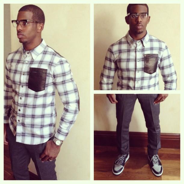 chris-paul-hstry-clothing-grungy-gentleman-flannel-shirt-white-black-neil-barrett-sneakers