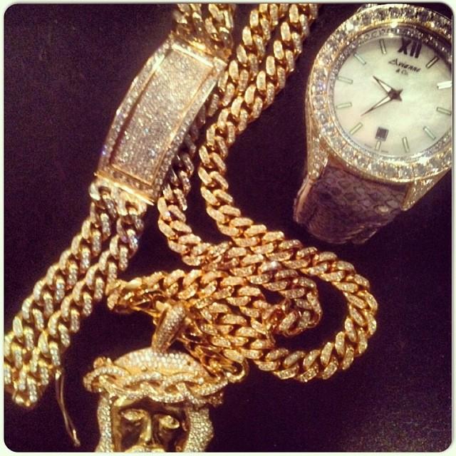 Cam Ron Avianne And Co Essence Diamond Watch Amp Jesus Piece