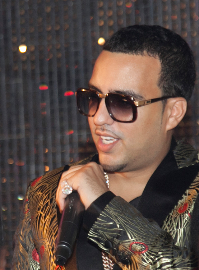 French Montana Wearing Cazal 616 Sunglasses And Iced Out