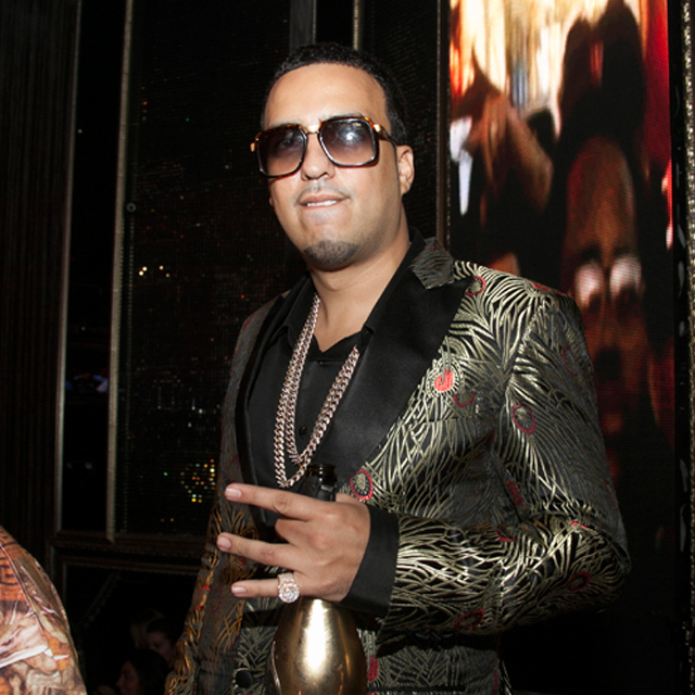 5bca5163e1b French Montana wearing Cazal 616 Sunglasses and Iced Out Miami Cuban Link  Chains