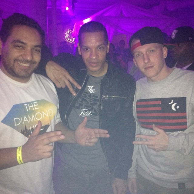 DJ Drewski with cipha sounds and Peter Gunz vampin