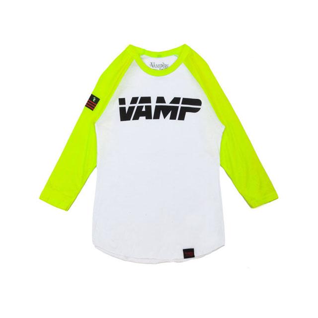 vampire-life-clothing-vamp-volt-neon-green-baseball-raglan-tee-shirt