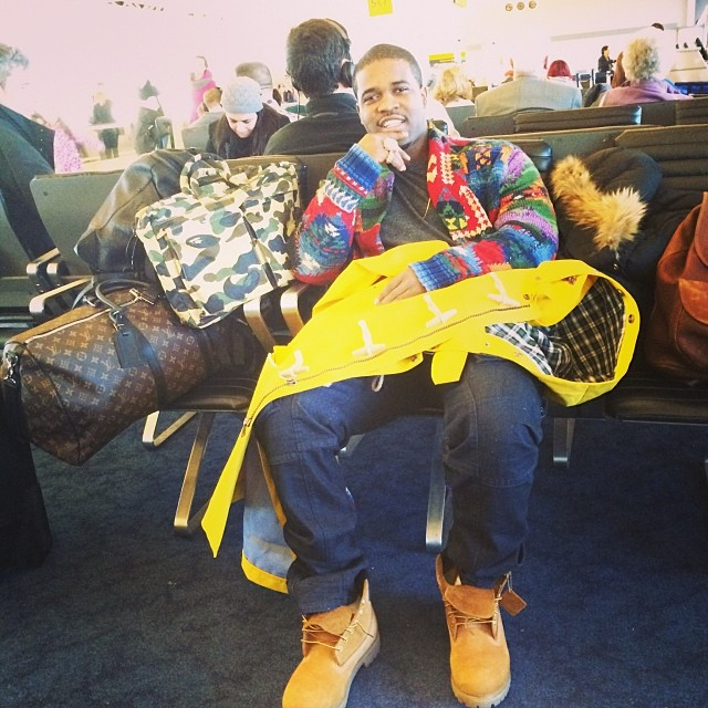 asap-ferg-polo-ralph-lauren-patchwork-shawl-collar-cardigan-rlx-waterproof-toggle-coat-timberland-boots-on-feet-lv-keepall-bape-camo-bag