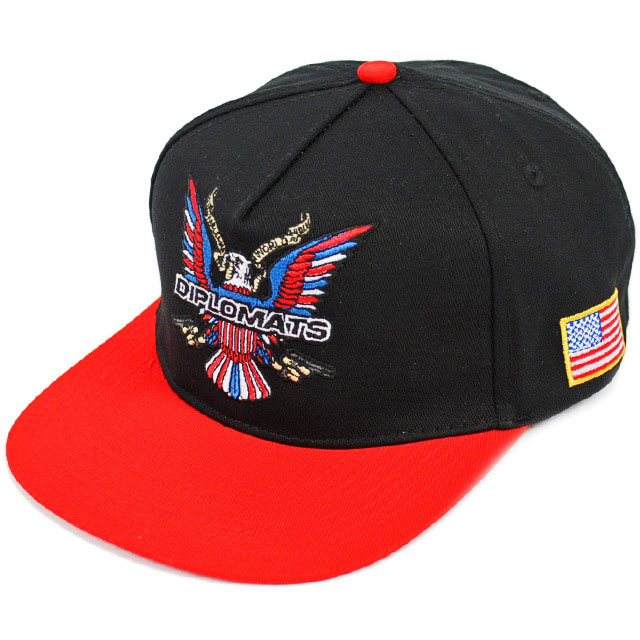 dipset-clothing-eagle-snapback-red-brim-hat