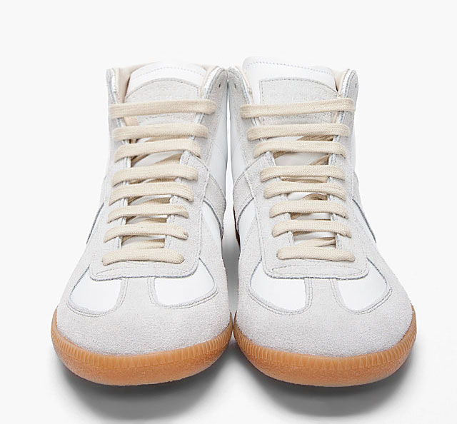 White Replica High-Top Sneakers Maison Martin Margiela