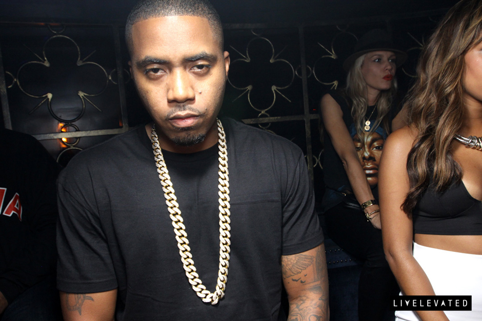 Nas Iced Out Yellow Gold Miami Cuban Link Chain Splash