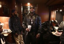 47909175589 Young Jeezy wearing Givenchy Leather Star Baseball Jacket and Givenchy  Tyson High-Top Leather Sneakers
