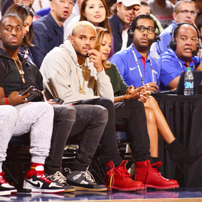 chris-brown-karrueche-tran-bee-line-timberland-red-boots-on-feet-usa-basketball-game-thumb