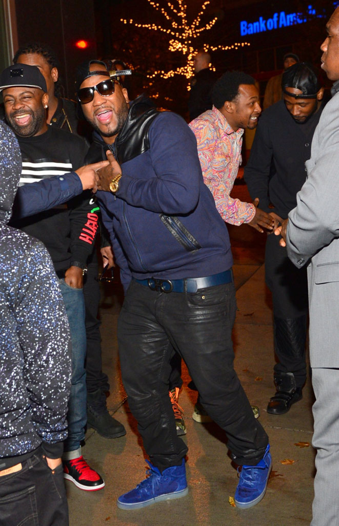 jeezy-balenciaga-royal-blue-suede-high-top-sneakers-on-feet-ferragamo-belt