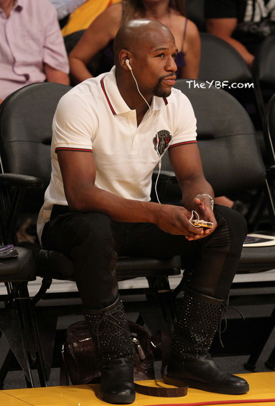 Floyd Mayweather In Gucci Crest Polo Shirt Amp Christian