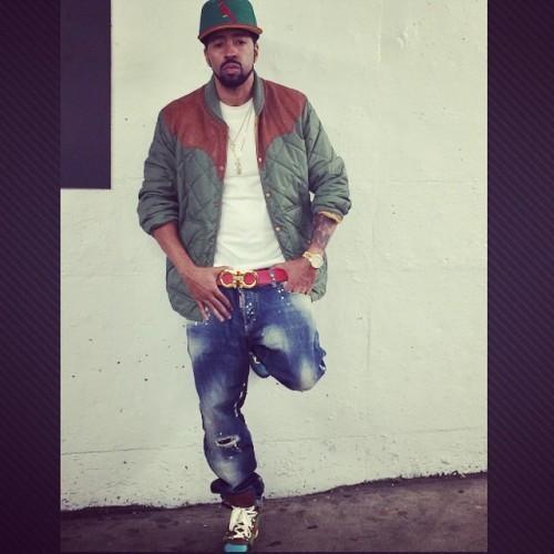 Roc Marciano Wearing RRL McBride Jacket