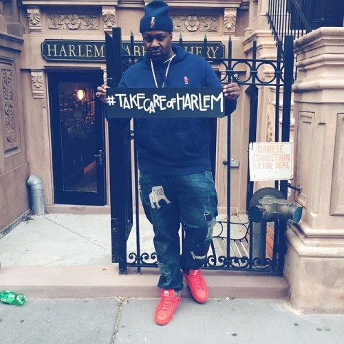 Smoke DZA In Polo Ralph Lauren Polo Bear Beanie & Hoodie