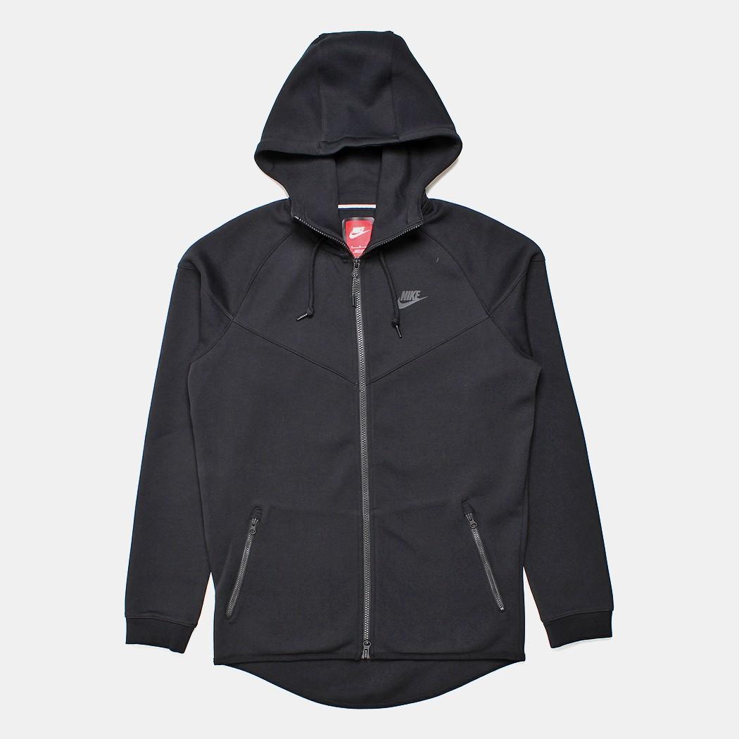 Nike jacket in chinese - Nike Tech Fleece Windrunner Hoodie Black 1mm