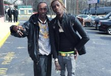 young-thug-nike-air-foamposite-pro-volt-on-feet-polo-black-tee-shirt
