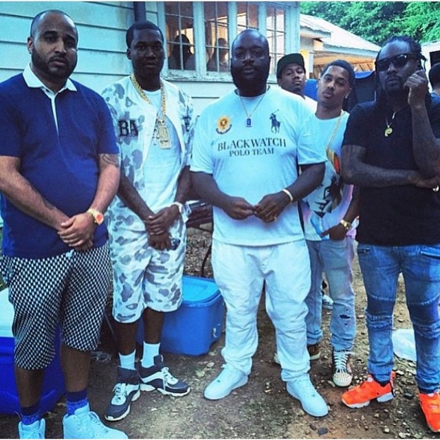 Rick Ross Wears Polo Ralph Lauren Blackwatch Jersey Shirt