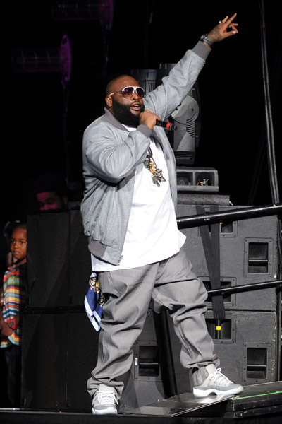 rick ross rocking jordan xi 11 cool greys splashy splash