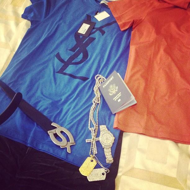 meek-mill-ysl-shirt-blue-ysl-belt-diamond-dog-tags-cross-chain-rolex-yacht-master-ii