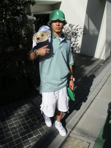 splash of the day hidamnnn with big pony polo bucket