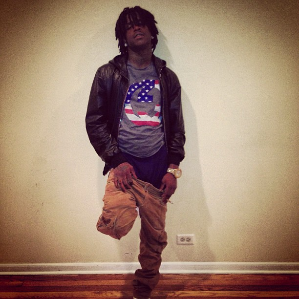 chief-keef-gucci-leather-hooded-bomber-gucci-usa-flag-shirt-4
