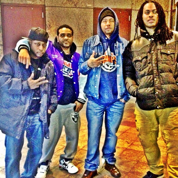 7b1d228ea7b96 Philthy Rich Wearing Vampire Life NY Vamps Hoodie   Nike Air Force 1  Foamposite Copper BHM