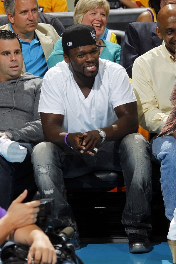 50 cent wearing 4 different nike foamposites 50 is a